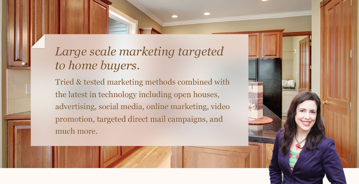Beth Traverso Real Estate Broker. Large scale marketing targeted to home buyers.